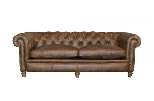 Abraham Junior Grand Sofa in Cal Tan