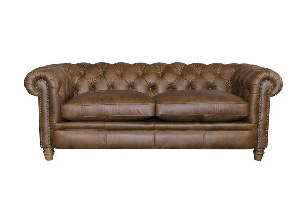 Abraham Junior Large Sofa in Cal Tan