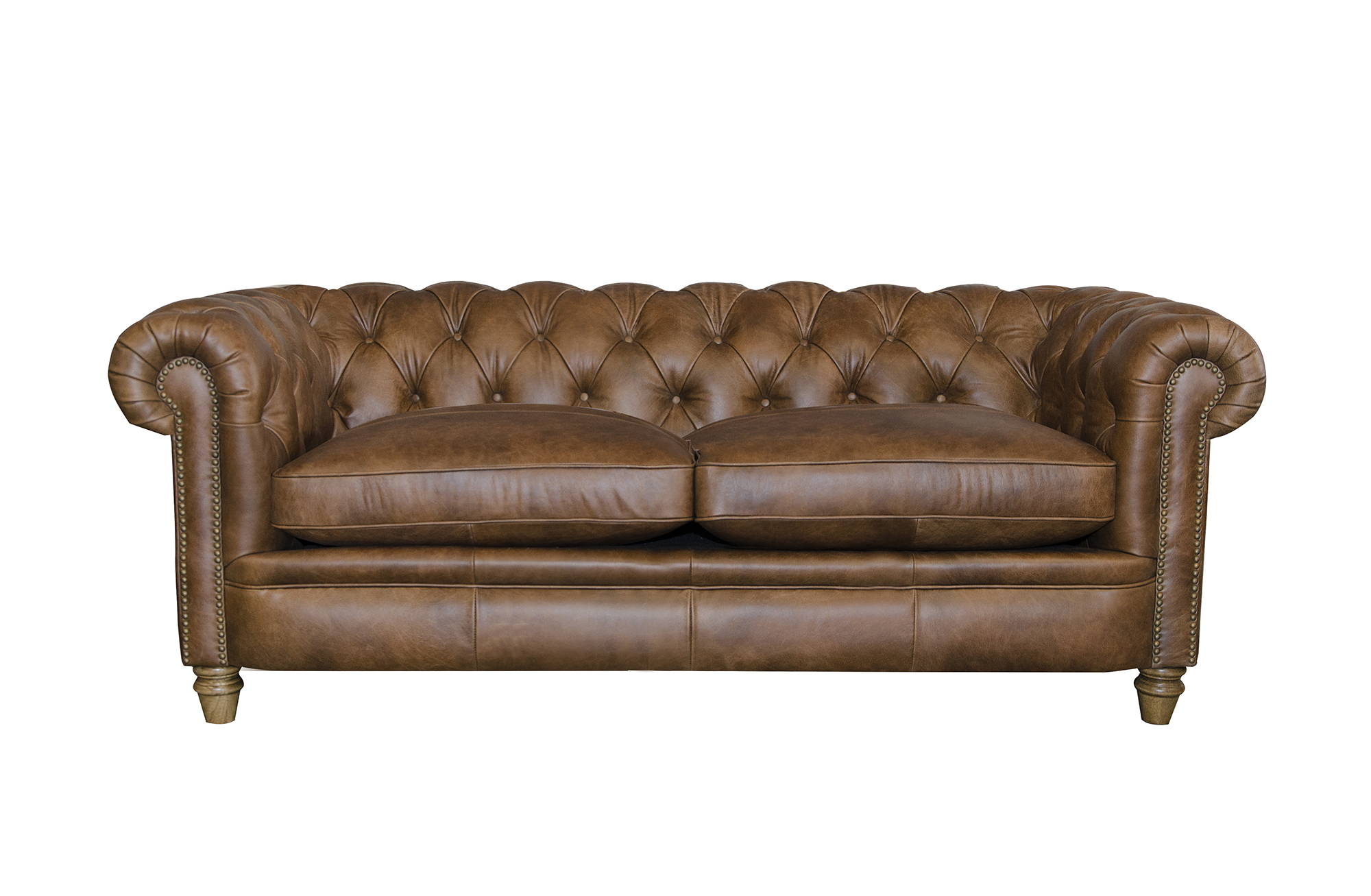 Abraham Junior Large Sofa in Cal Tan