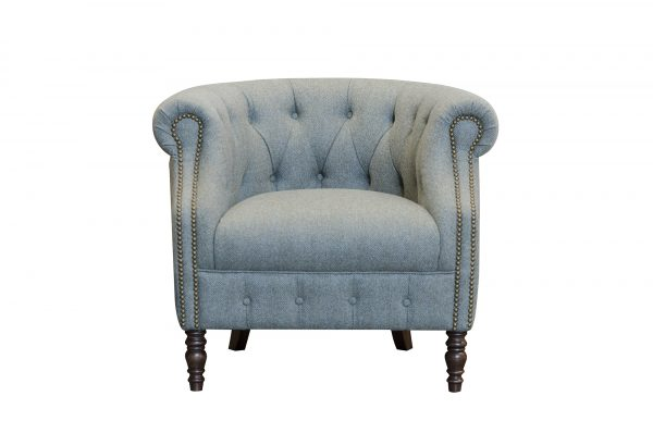Jude Chair in Glamis Herringbone Topaz