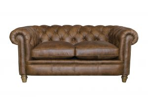 Abraham Junior Small Sofa in Cal Tan