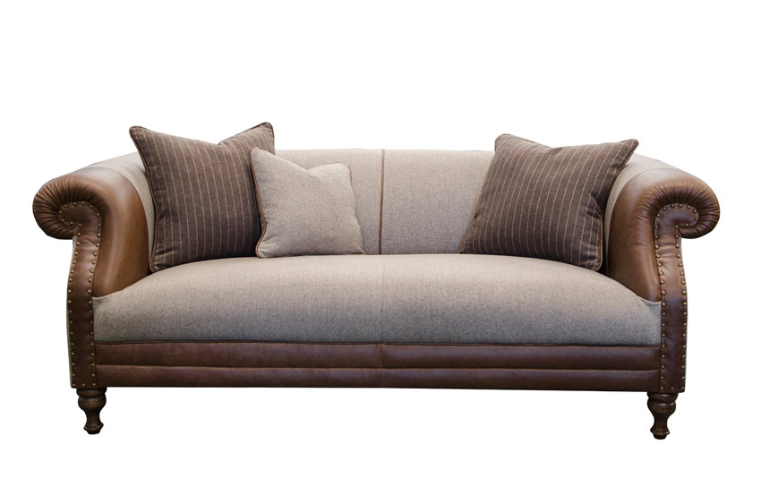 Albert Large Sofa in Cal Tan and Poole Mocha