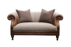 Albert Small Sofa in Cal Tan and Poole Mocha