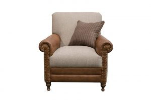 Bertie Chair in Cal Tan and Poole Mocha