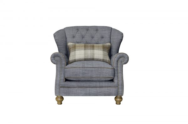 Langar Wing Chair in Flax Grey