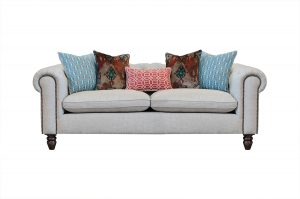 Audrey Midi Sofa in Artisan Plain Stone with Escape Cushion Pack