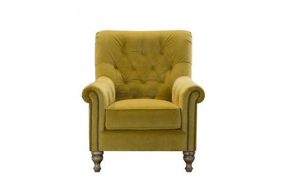 Sofia Chair in Plush Turmeric