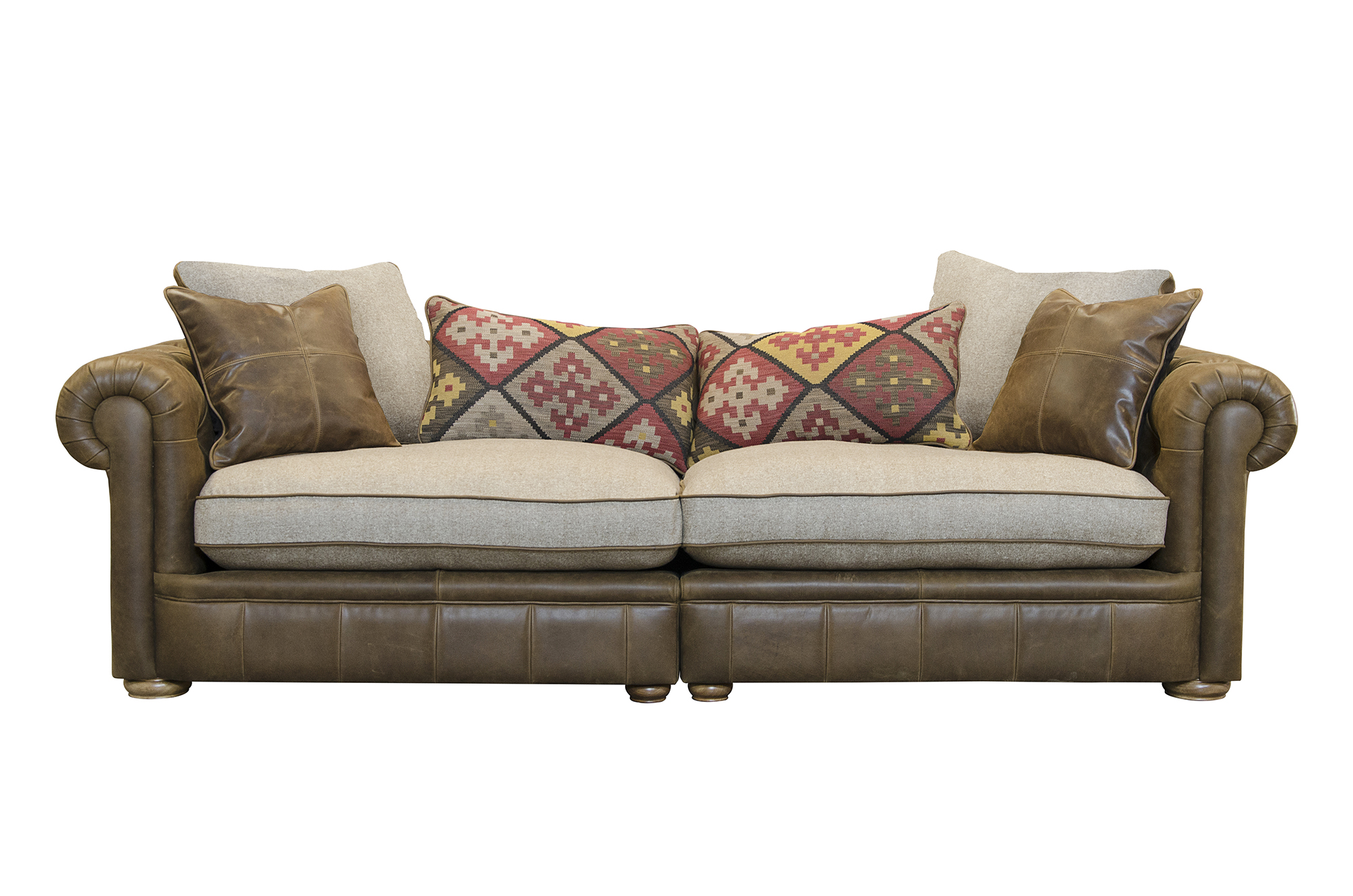 The Retreat Maxi Split Sofa in Jin Brown
