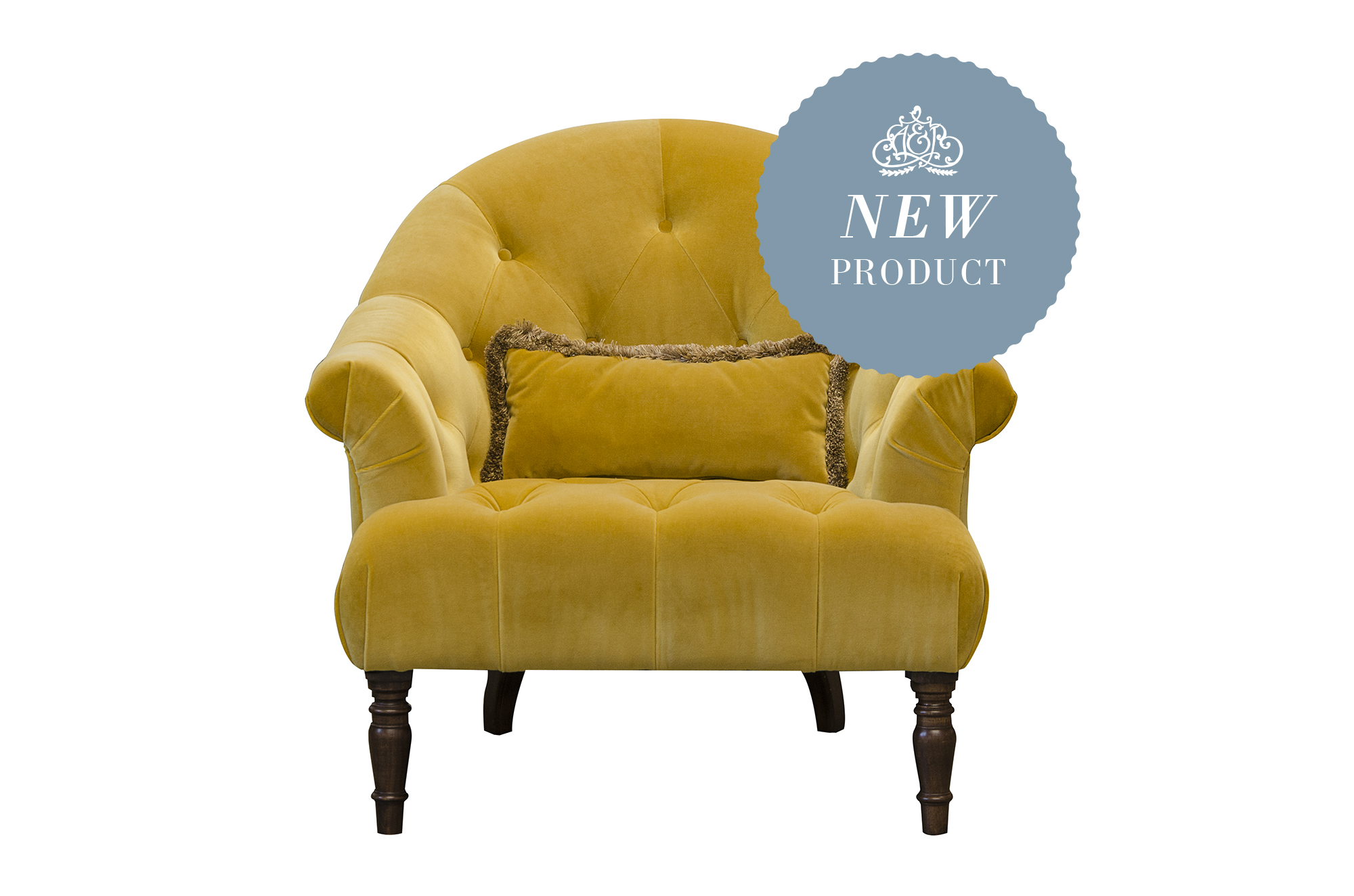 Imogen Buttoned Chair in Plush Turmeric