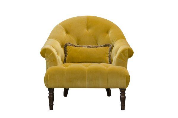Imogen Buttoned Chair in Plush Turmeric