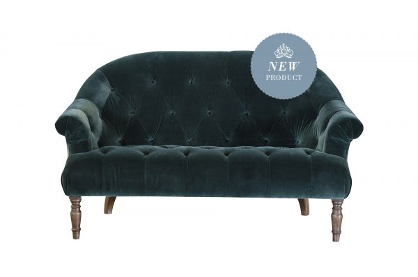 Imogen 2 Seater in Lavish Emerald Buttoned
