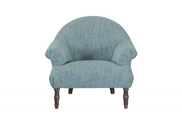 Imogen Buttoned Chair in Boucle Jade
