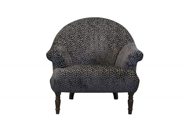 Imogen Buttoned Chair in Dapple Seal Brown