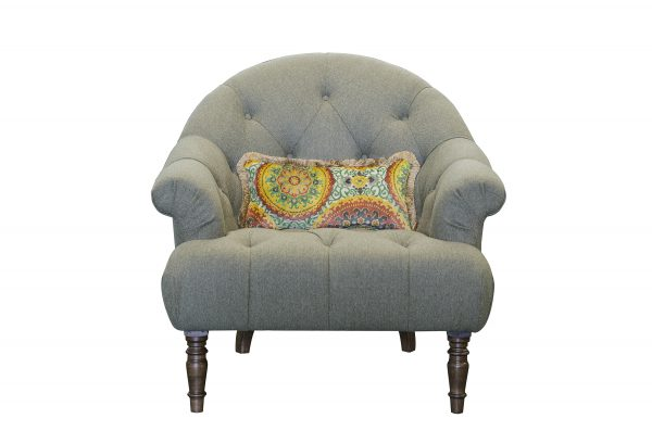 Imogen Buttoned Chair in Poole Ivy