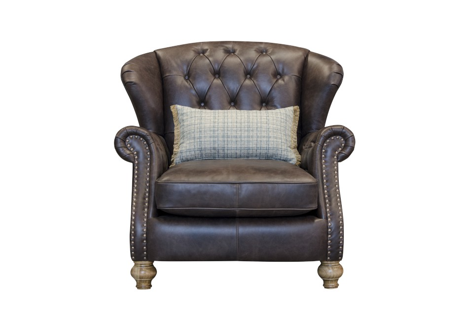 Bloomsbury Wing Chair in Cal Smoke