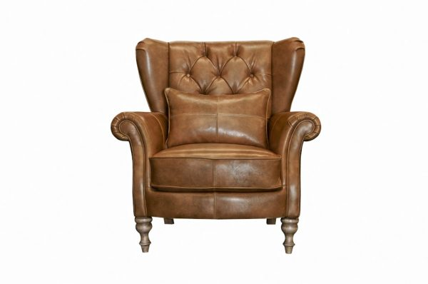 Abraham Wing Chair in Cal Tan