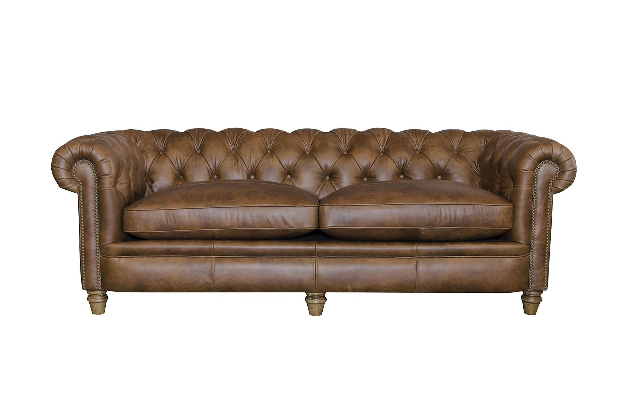 Abraham Junior Grand Sofa in Cal Tan