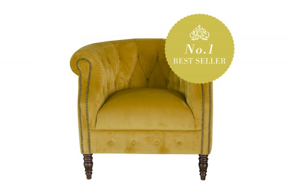 Jude Chair in Plush Turmeric
