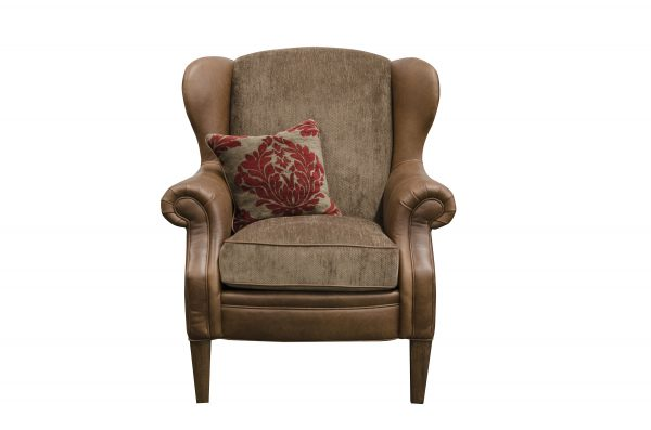 Hudson Wing Chair in Jin Brown (Option 1)