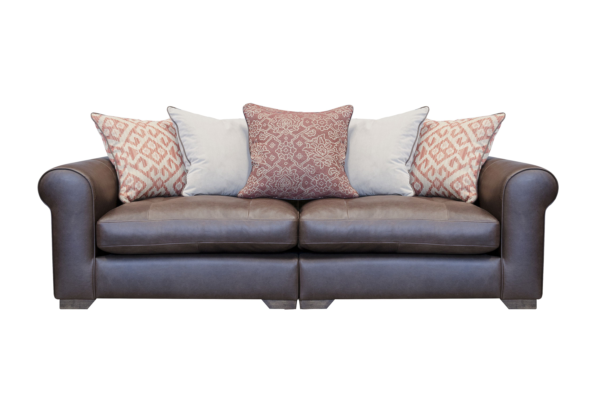 Pemberley Maxi Split Sofa Shown in Indiana Tan with Fabric Option 1