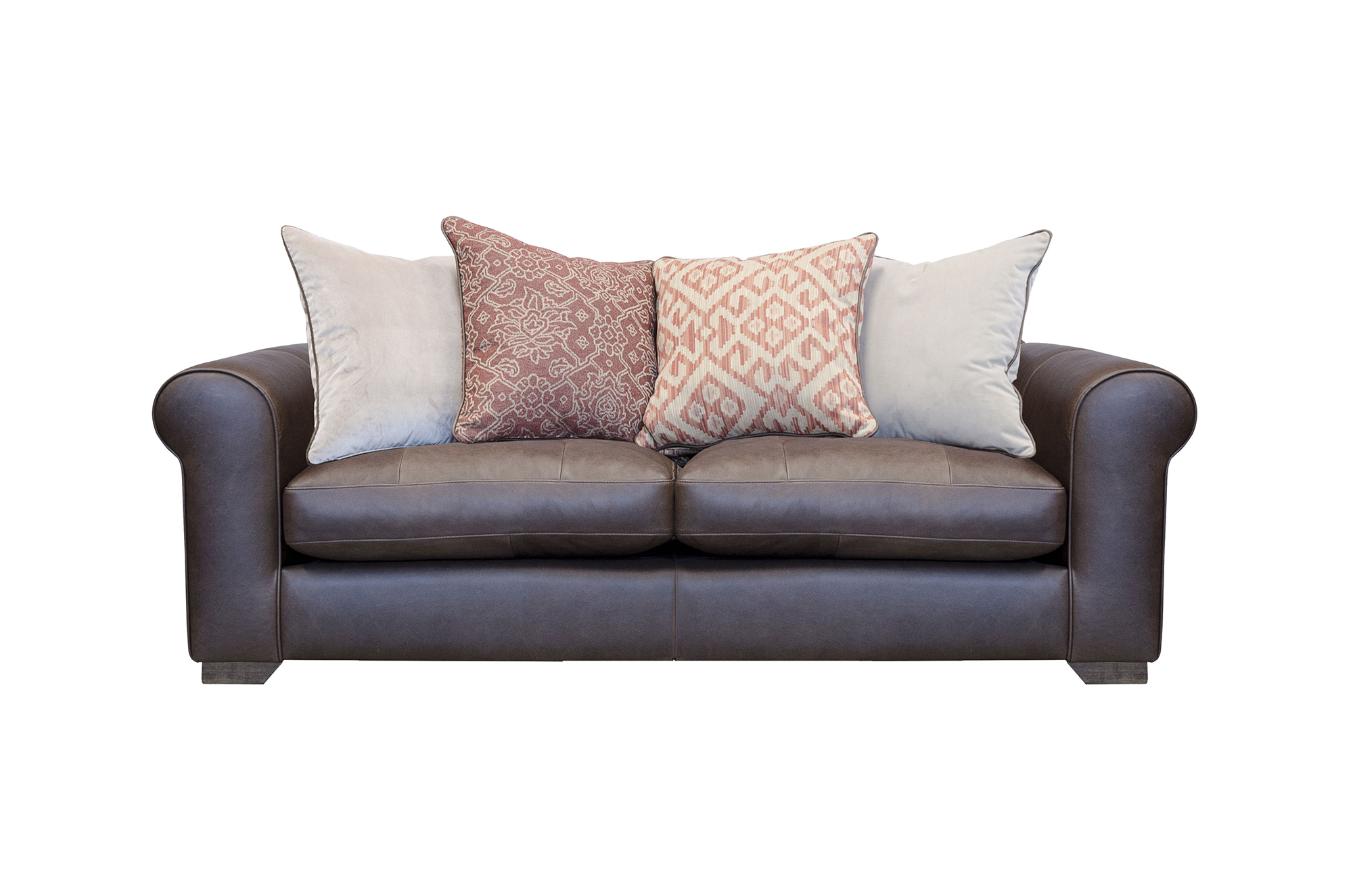 Pemberley Midi Sofa Shown in Indiana Tan with Fabric Option 1