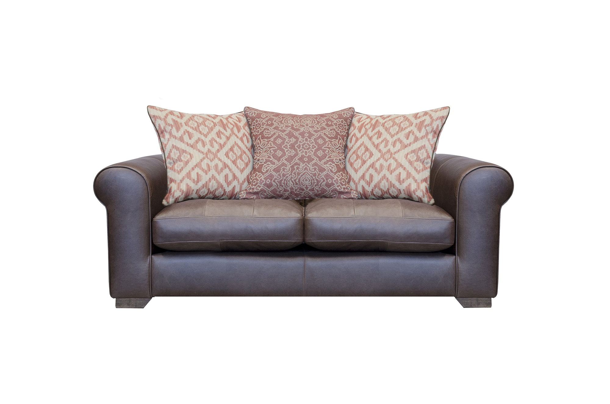 Pemberley Small Sofa Shown in Indiana Tan with Fabric Option 1